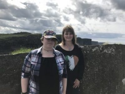 My precious beautiful daughter Leah & me at the Cliffs of Moher. A lady offered to take our pic together.