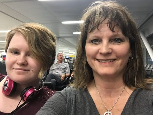 Leah & me before our international flight