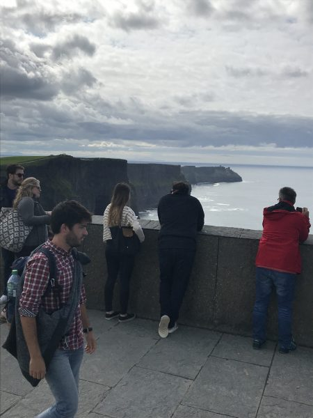 Visitors at Cliffs of Moher