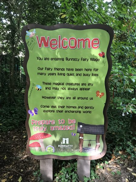 sign for fairy village