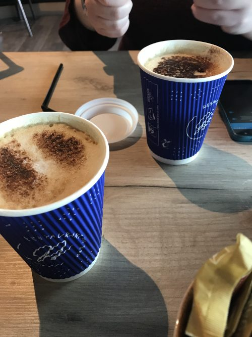our first coffee in Shannon, Ireland!