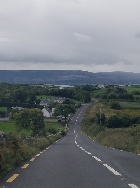 Driving through mountains in Ireland