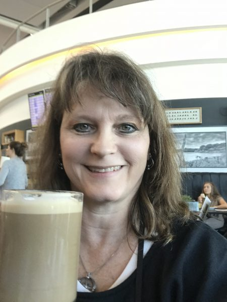 I finally got my Irish coffee and it was so good! At Dublin airport