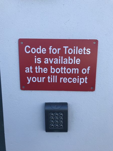 code to use public restroom