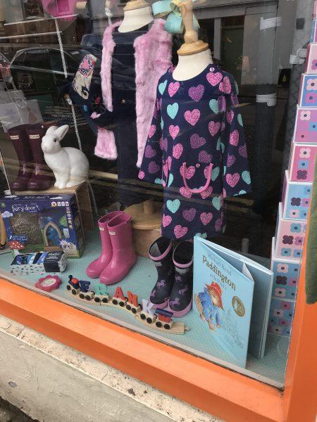 cute heart dress & rain boots
