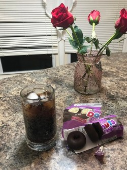 Dr. Pepper and doughnuts