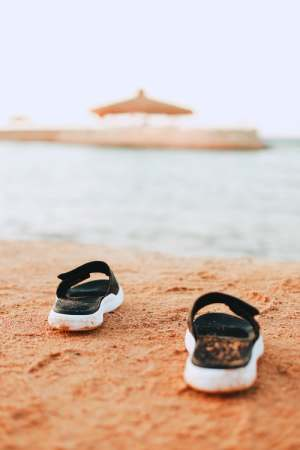 shoes on sand