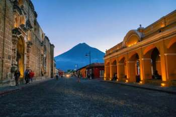 volcano in Antigua, Guatemala