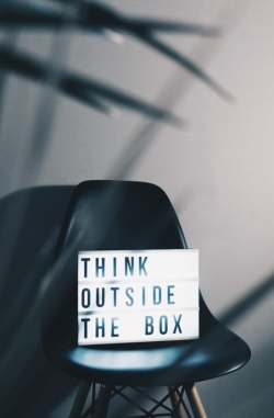 Think outside the box. Source: Unsplash