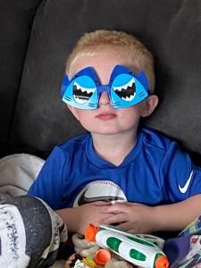 Eian in his shark sunglasses
