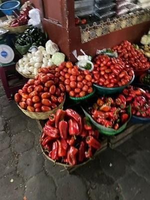 street market fresh tomatoes