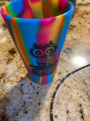 Leah's colorful cup souvenir