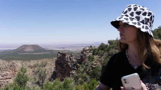 me looking out at the Grand Canyon