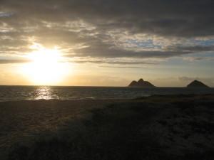 Sun rising at Lanikai