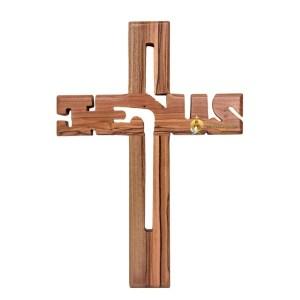 Olive Wood Jesus Cross Medium from Bethlehem