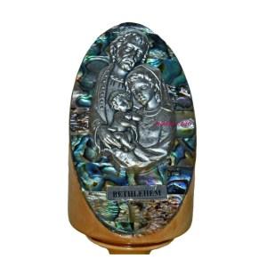 Pedestal Abalone Holy Family from Bethlehem