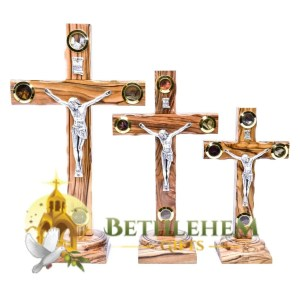 Latin with samples standing crucifix from Bethlehem