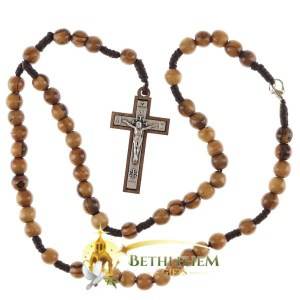 Olive Wood Cord Rosary and Necklace from Bethlehem