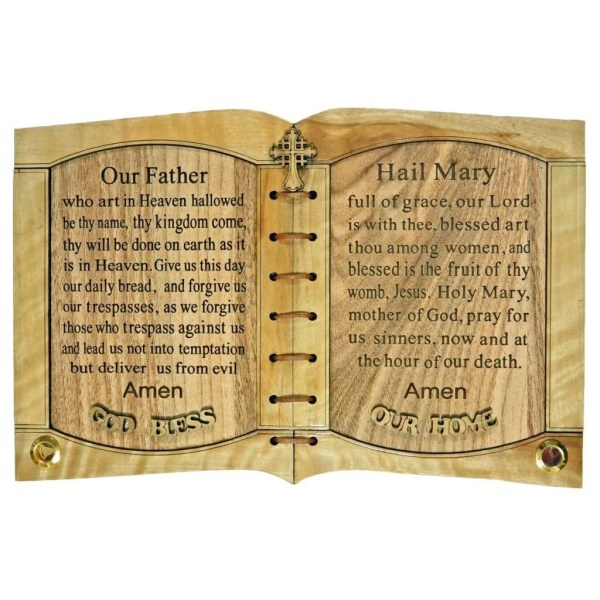 The Lord's Prayer and Hail Mary Prayer with Holy Samples