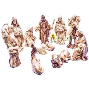 Olive Wood Nativity Figurines from Bethlehem