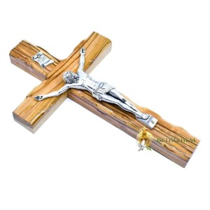 Olive Wood Small Latin Crucifix from Bethlehem