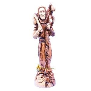 The Good Shepherd Olive Wood Statue from Bethlehem