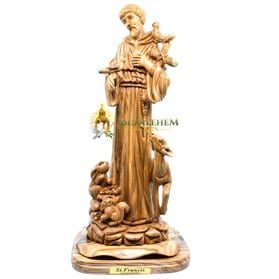 Olive Wood Large St. Francis-279