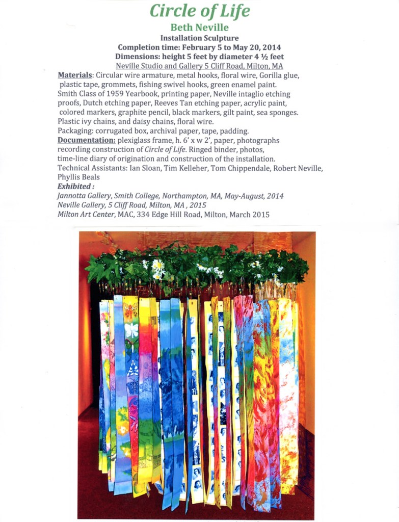 """Circle of Life,"" Jannotta Gallery installation photo."