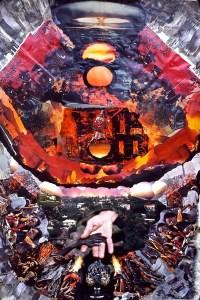 photomontage: fire