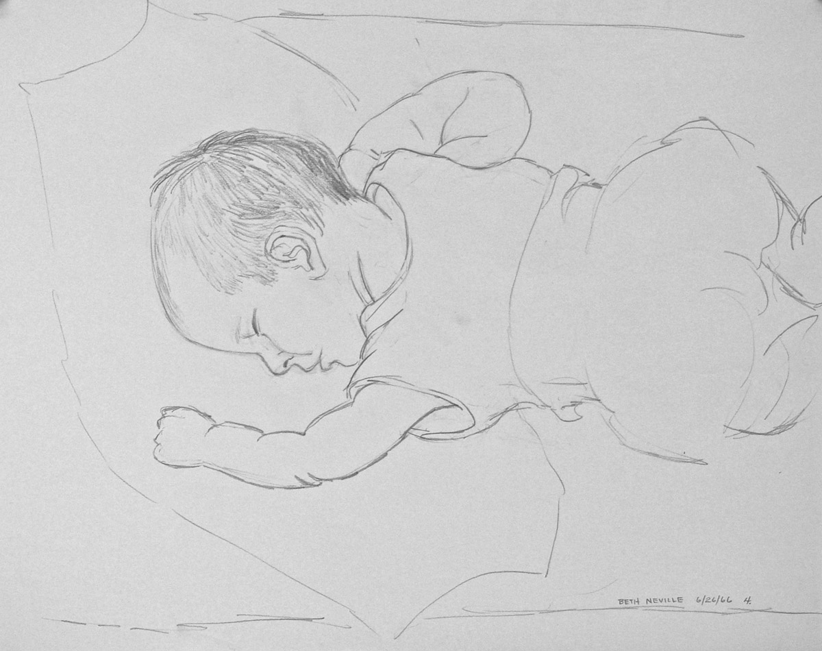graphite drawing: Gwendolyn Sleeping