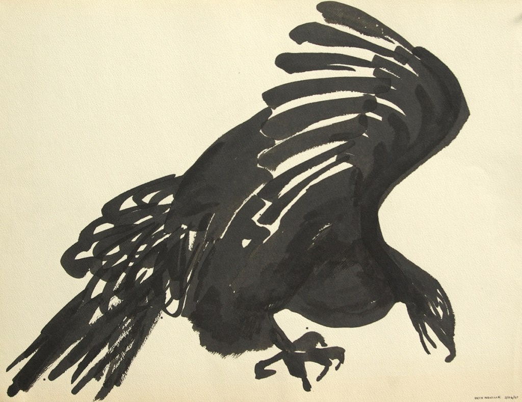 sumi-e black ink: Raven of Death, Peaking