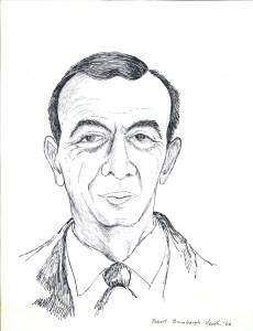 drawing: Dr. Robert Brumbaugh portrait