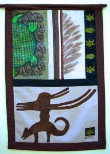 Animal Headdress banner, right side