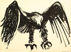 black sumi-e ink: Raven of Death Landing