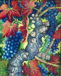 The Old Vine: oil painting