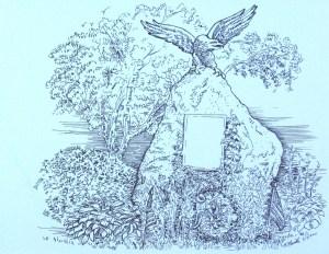 drawing: Milton Civil War Monument