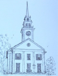 drawing: First Parish Congregation