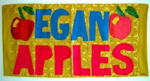 Egan Apples fabric banner