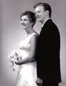Wedding photo, wedding dress designed by Beth Neville