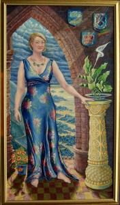 full length oil portrait of Naomi Neville