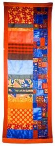 orange and blue vertical banner