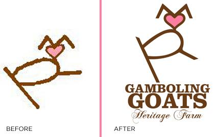 Gamboling Goats Logo Freshen-up