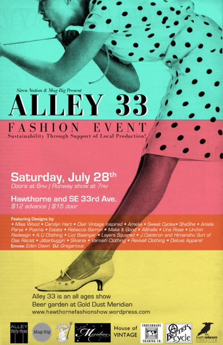 Alley 33 Fashion Event Poster
