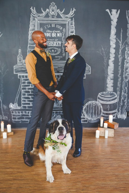 Masculine Gay Wedding Styled Shoot