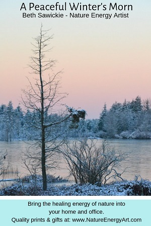 A Peaceful Winter's Morn by Beth Sawickie - Nature Energy Artist
