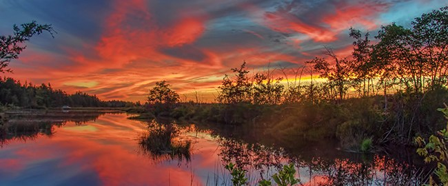 September Sunset Reflection photo by Beth Sawickie www.bethsawickie.com/september-sunset-reflection-photo