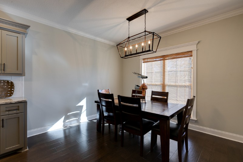 Homes for Sale in Kingsmill Hattiesburg MS - Enjoy the lovely view of the backyard while eating in the good-sized breakfast area of this home in Hattiesburg MS.