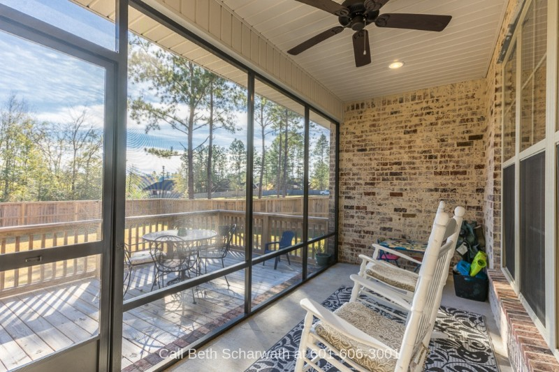 Real Estate Properties for Sale in Kingsmill Hattiesburg MS - Beautiful country view awaits you in the sunroom of this home for sale in Hattiesburg MS.