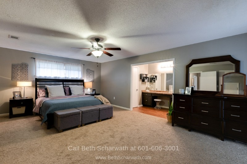 Hattiesburg MS Homes - Snooze your worries away in the large master bedroom of this Hattiesburg MS home for sale.