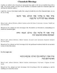 Chanukah Candle Lighting Prayer In Hebrew